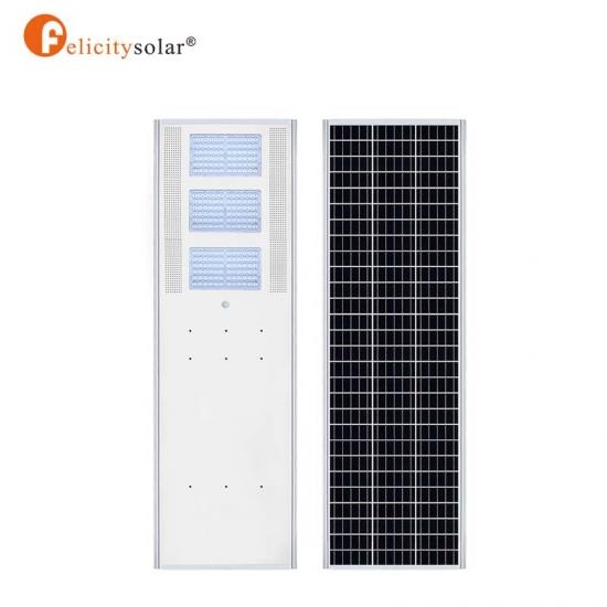 Outdoor Lighting 100w All In One Solar Street Light High Lumen For Highway